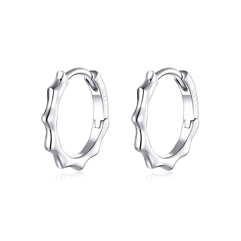 Silver Round Hoop Earrings From CharmSA Image 1