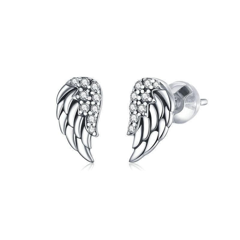 Vintage Wings Stud Earrings