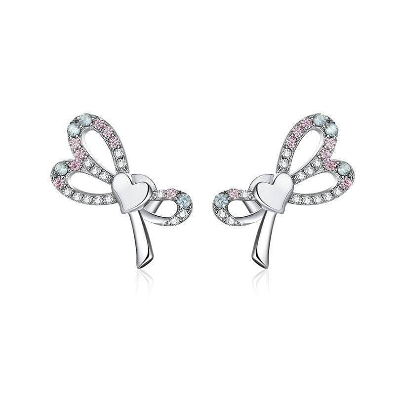 Belt Bowknot Stud Earrings