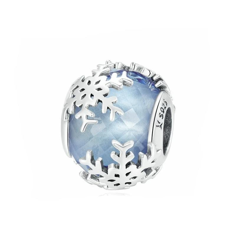 Glass Snowflake Blue Charm