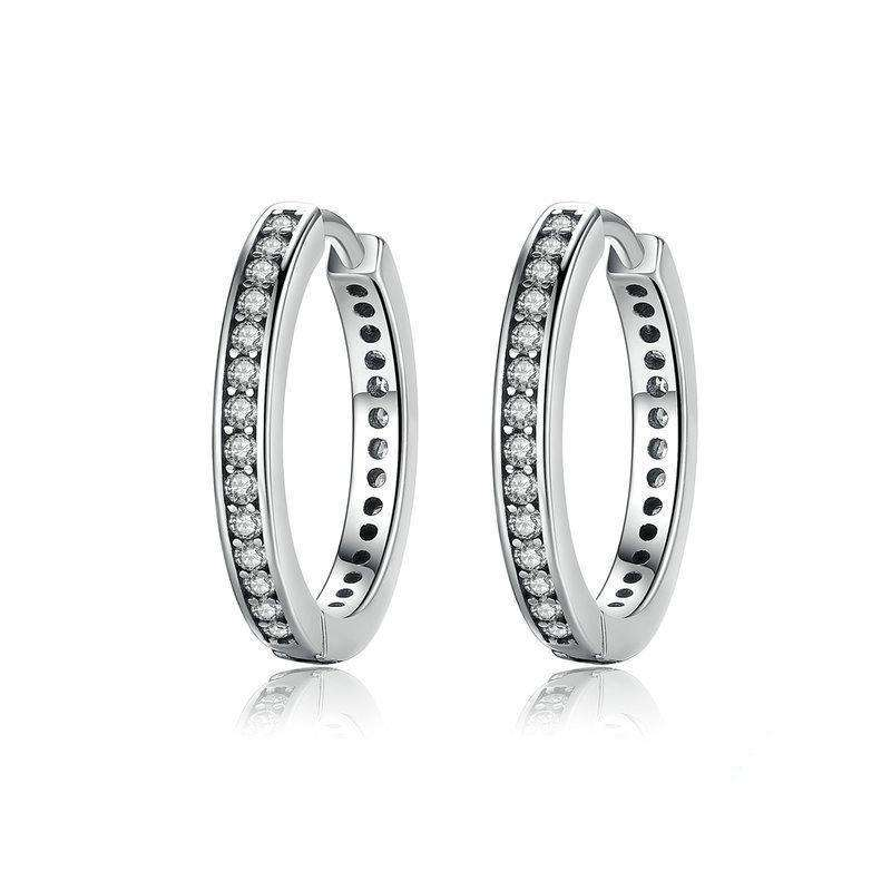 Hoop Earrings With CZ From CharmSA Image 1