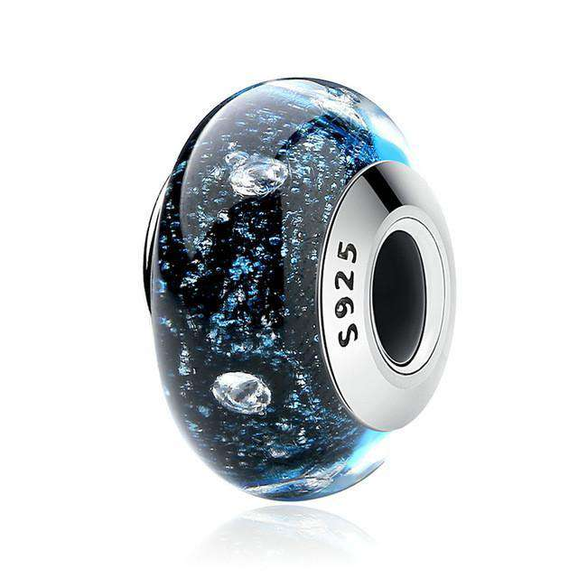Pandora Compatible 925 sterling silver Murano Glass Charm - Night Sky From CharmSA Image 1