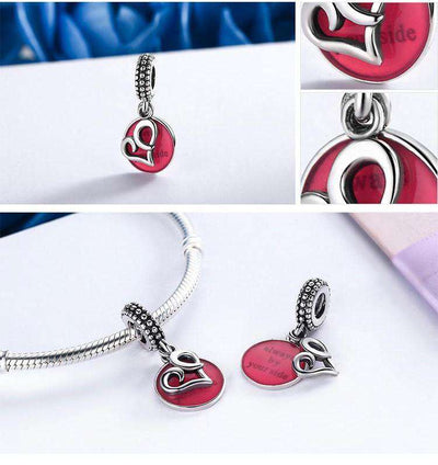 To Be with You Red Heart Double layer Charm