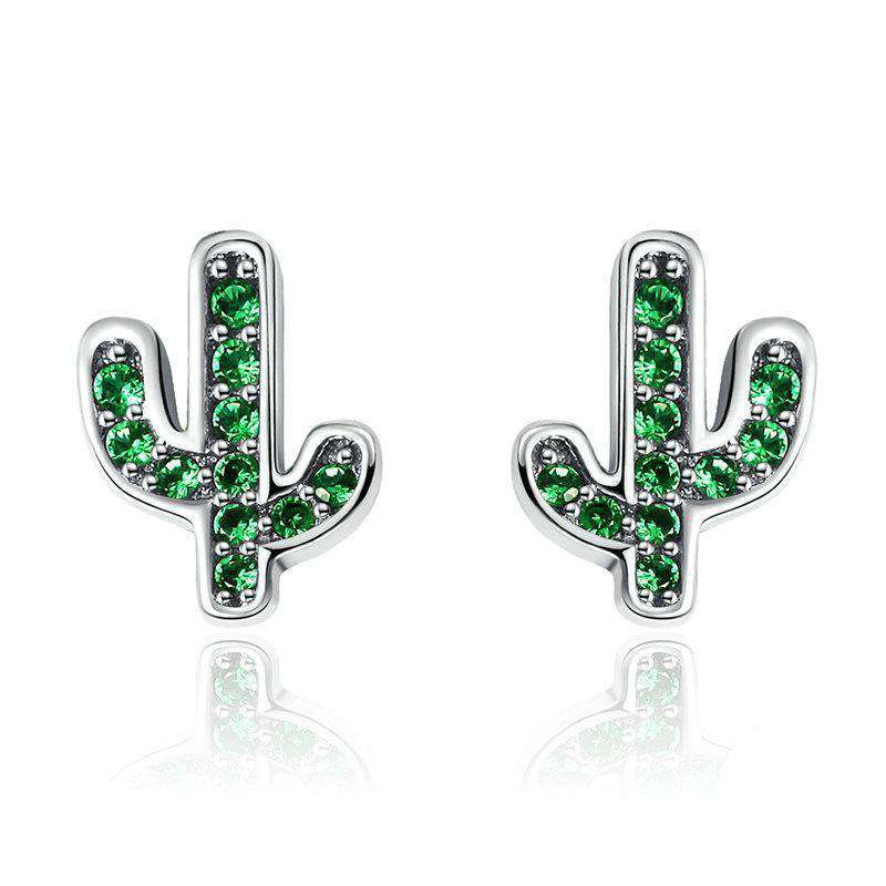 Dazzling Green Cactus Crystal Stud Earrings From CharmSA Image 1