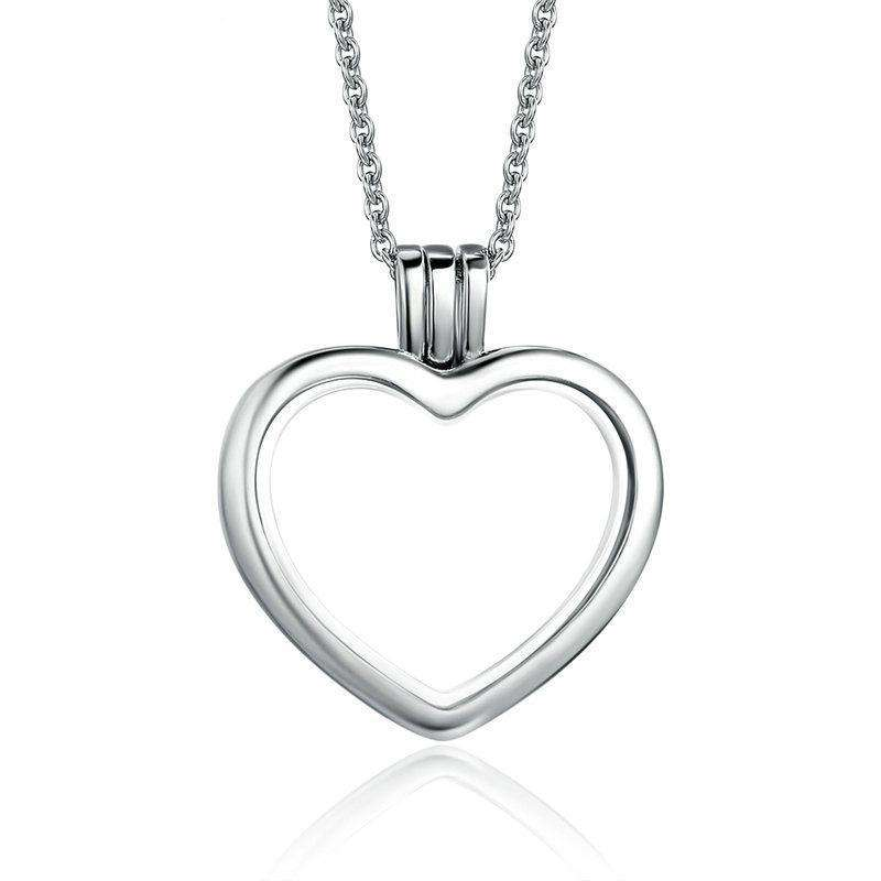 Heart Memories Floating Box Necklace