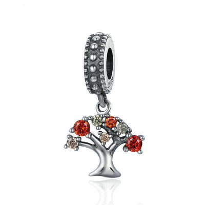 Autumn Falling Tree of Life CZ Charm