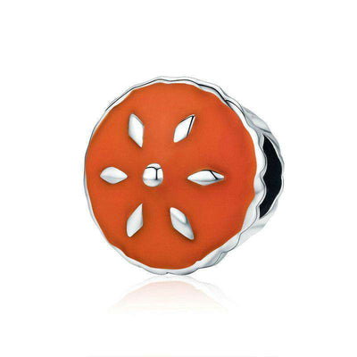 Thanksgiving Cake Color Enamel Charm