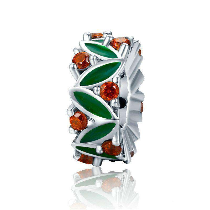 Pandora Compatible 925 sterling silver Christmas Tree & CZ Spacer From CharmSA Image 1