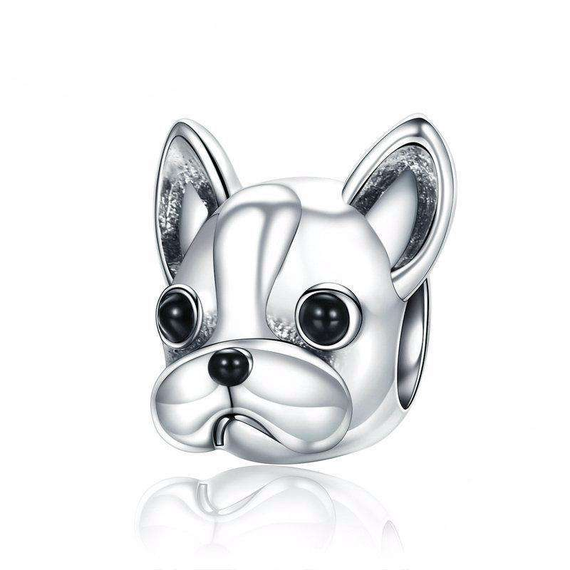 Pandora Compatible 925 sterling silver Boston Terrier Charm From CharmSA Image 1
