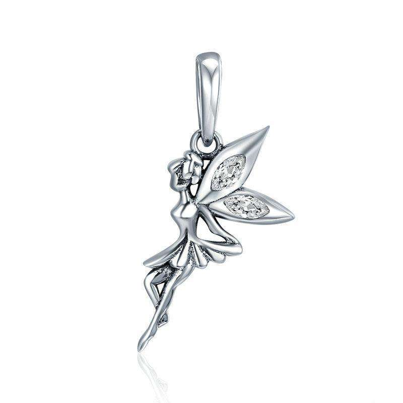 Pandora Compatible 925 sterling silver Flower Fairy Dangle Charm From CharmSA Image 1