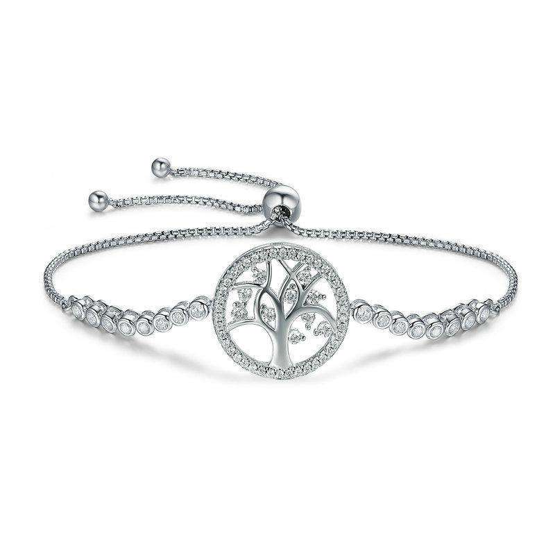 Silver Tree of Life Tennis Bracelet