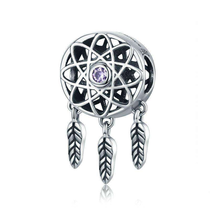 Pandora Compatible 925 sterling silver Beautiful Dream Catcher Holder Charm From CharmSA Image 1