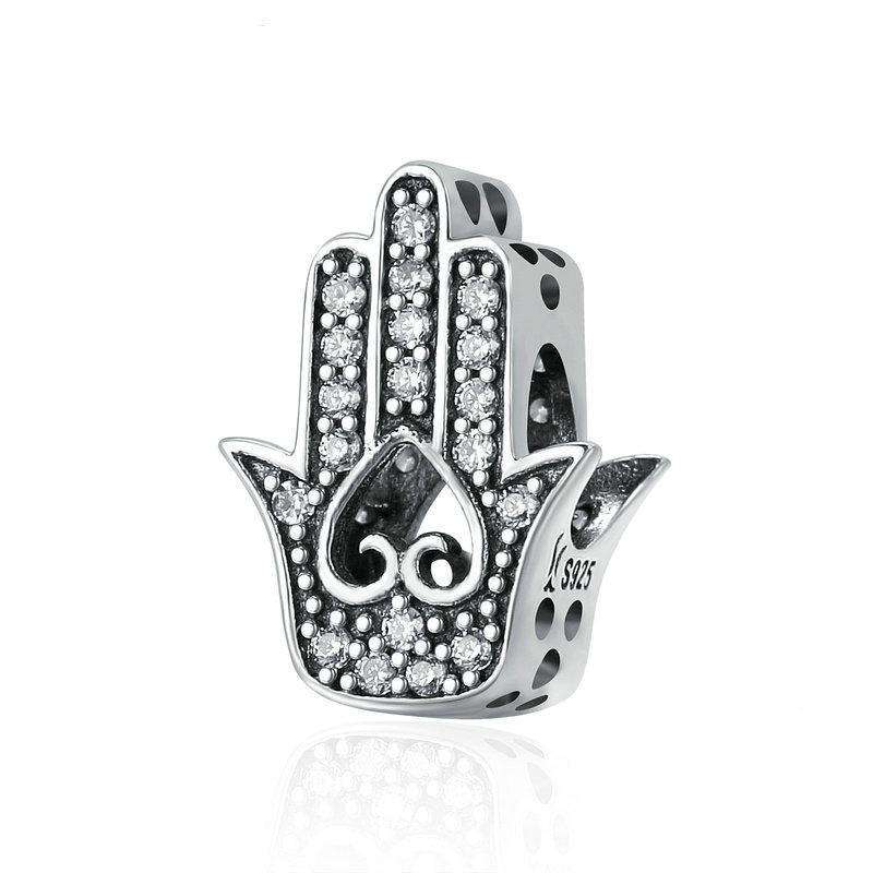 Pandora Compatible 925 sterling silver Good Luck Hand Of Fatima Charm From CharmSA Image 1