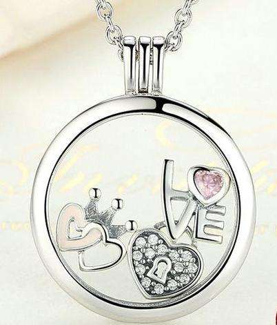 Medium Petite Memories Floating Locket Necklace From CharmSA Image 1