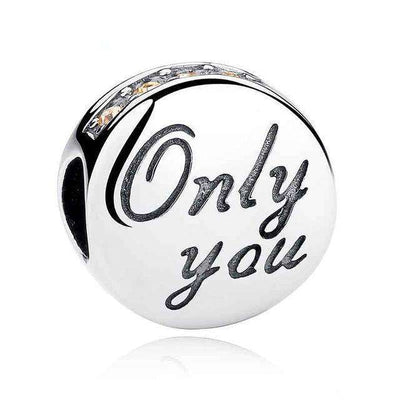 Only You Orange CZ Charm