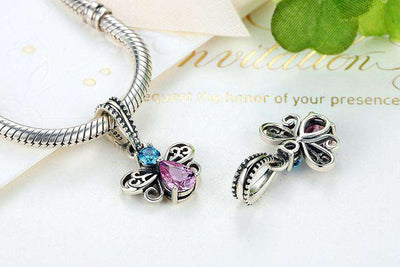 Bee Insects CZ Charm