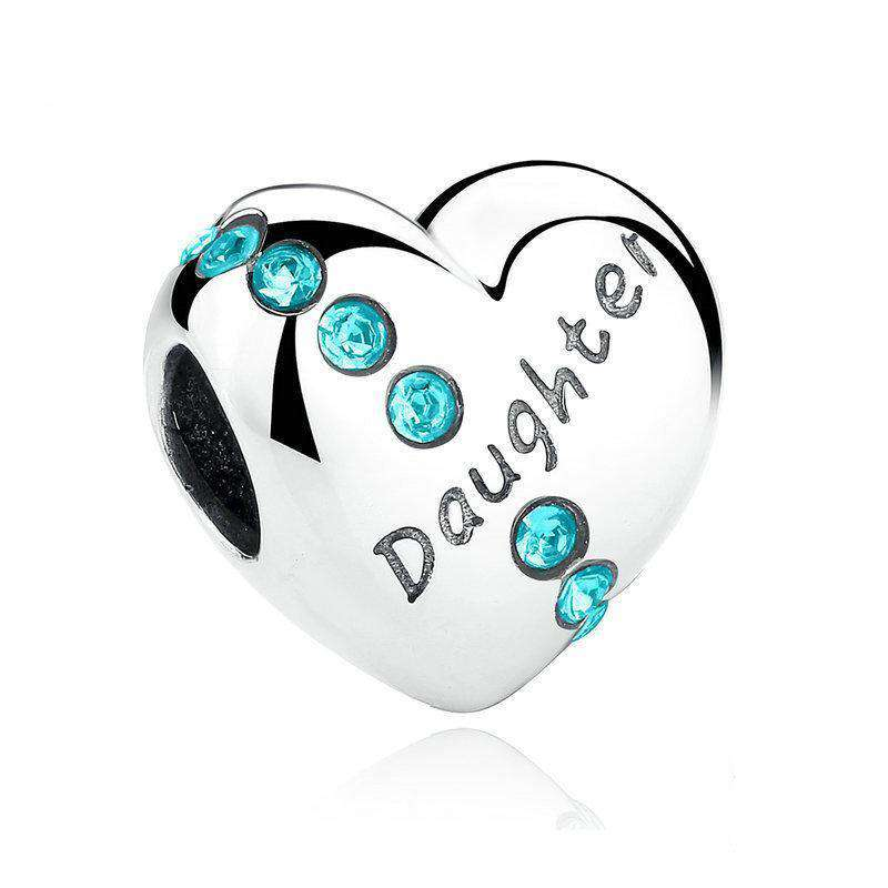 Daughter Heart CZ Charm
