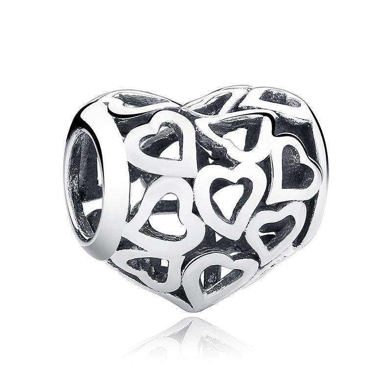 Pandora Compatible 925 sterling silver Skeleton Heart Charm From CharmSA Image 1