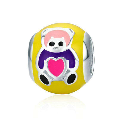 Cute Little Baby Bear Colour Enamel Charm