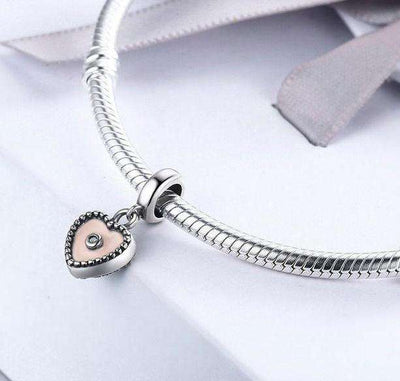 True Love Heart Shape Clear Charm
