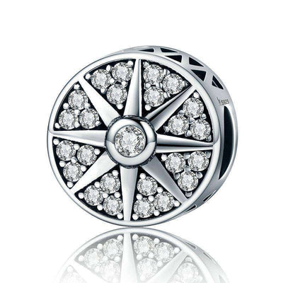 Sun Freeze Element Sparkling CZ Charm