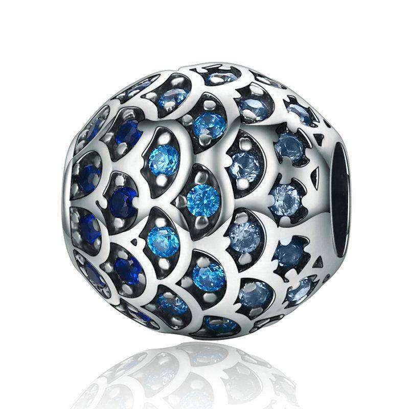 Pandora Compatible 925 sterling silver Daughter Of Sea Gradual Change Blue Fish CZ Charm From CharmSA Image 1