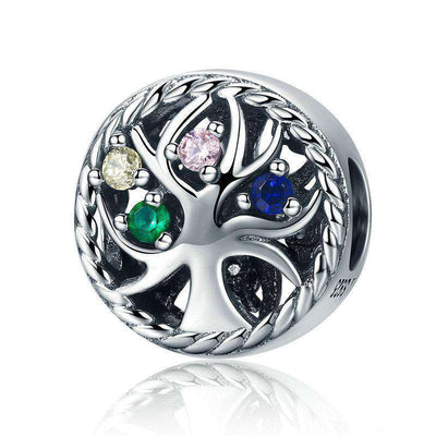 Colourful Tree of Life Dazzling CZ Charm