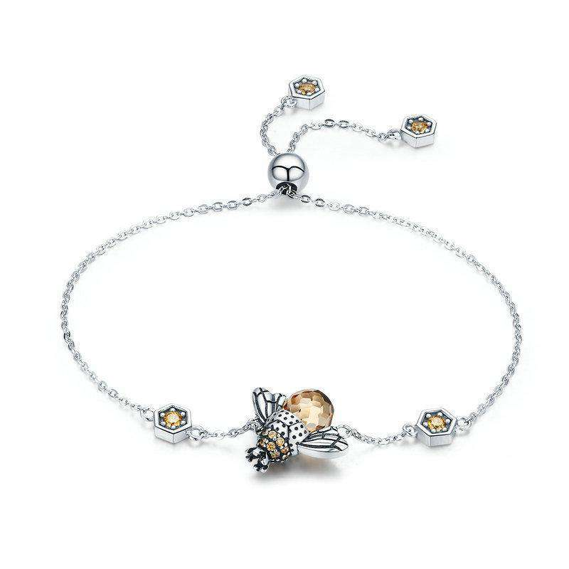 Dancing Honey Bee Chain Link Bracelet