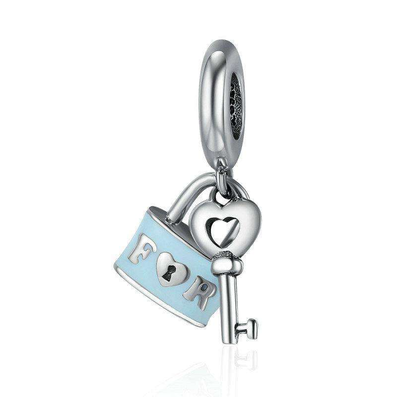 Pandora Compatible 925 sterling silver Promise Of Love Lock & Love Key Charm From CharmSA Image 1