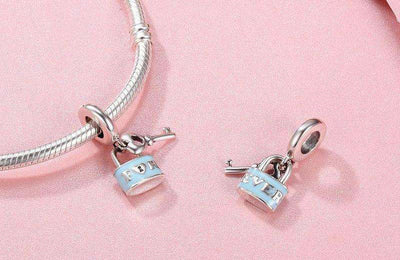 Promise Of Love Lock & Love Key Charm