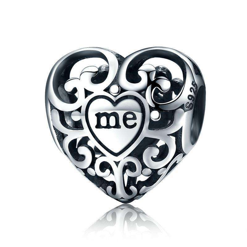 Pandora Compatible 925 sterling silver Openwork You & Me Flower Leaf Charm From CharmSA Image 1