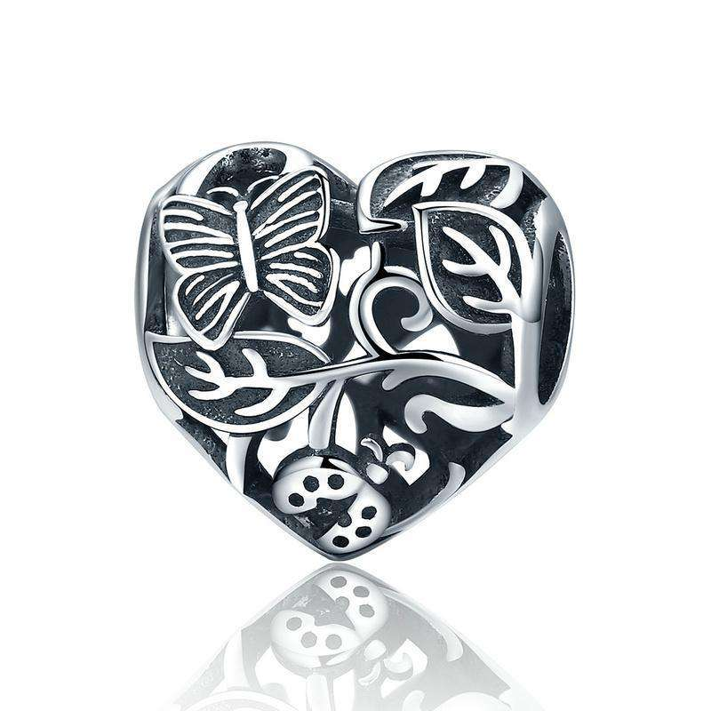 Pandora Compatible 925 sterling silver Butterfly Garden Charm From CharmSA Image 1