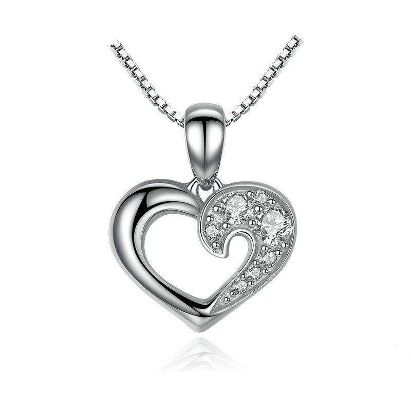 Romantic Silver Heart Necklace