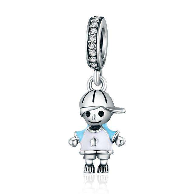 Pandora Compatible 925 sterling silver Little Boy CZ Charm From CharmSA Image 1