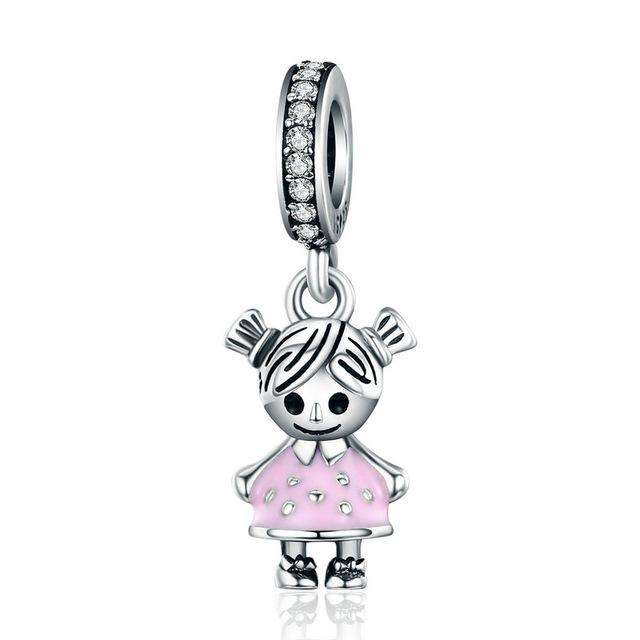 Pandora Compatible 925 sterling silver Little Girl CZ Charm From CharmSA Image 1