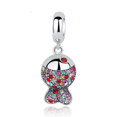 Lovely Colourful Fish CZ Charm