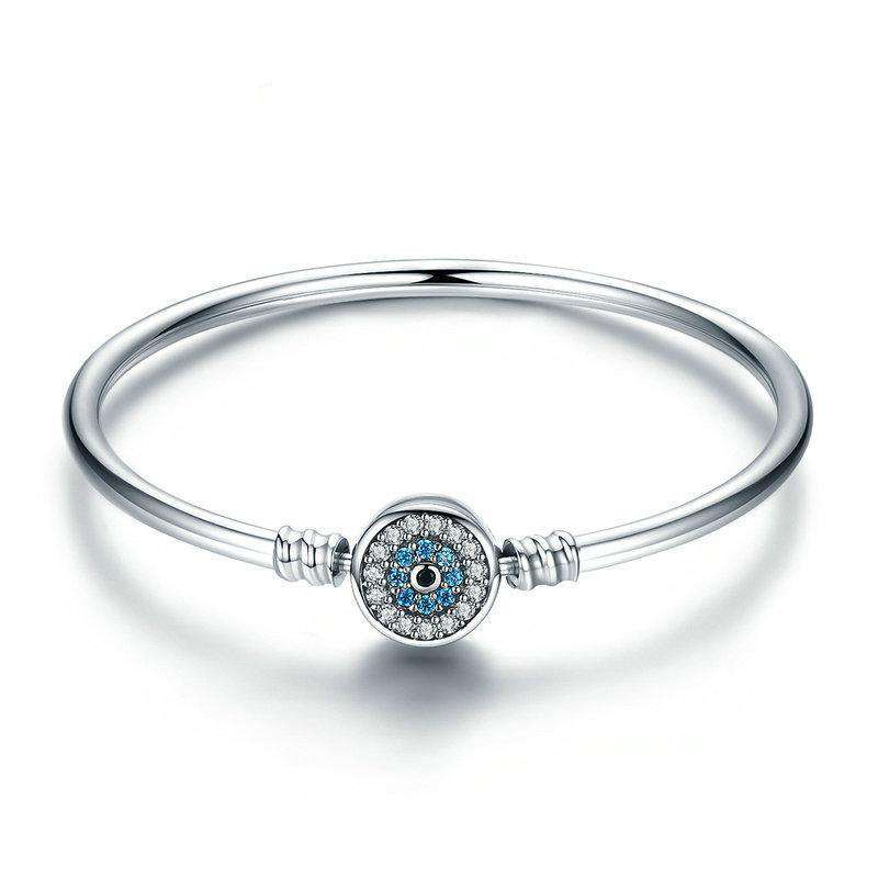 Blue Eyes Clear CZ Bangle From CharmSA Image 1