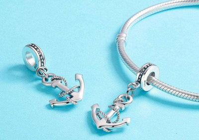 Rope & Anchor CZ Charm
