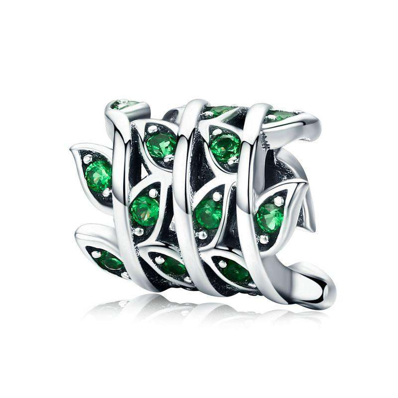 Pandora Compatible 925 sterling silver Tree of Life Green Barrel CZ Charm From CharmSA Image 1
