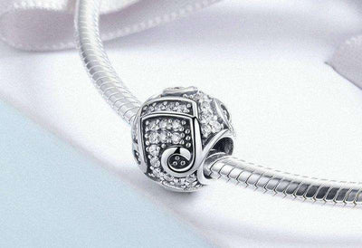 Music Melody Notes CZ Charm