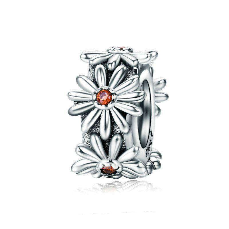 Pandora Compatible 925 sterling silver Daisy Flower Spacer From CharmSA Image 1