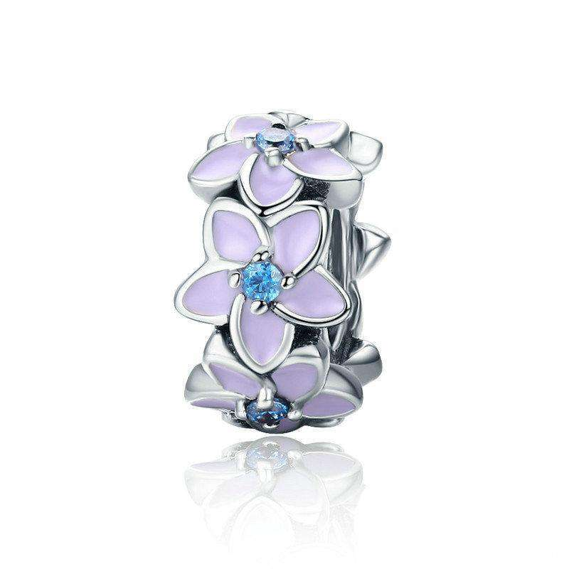 Pandora Compatible 925 sterling silver Orchid Flower CZ Spacer From CharmSA Image 1