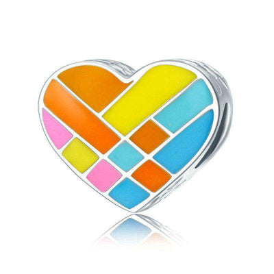 Colorful Enamel Heart Charm