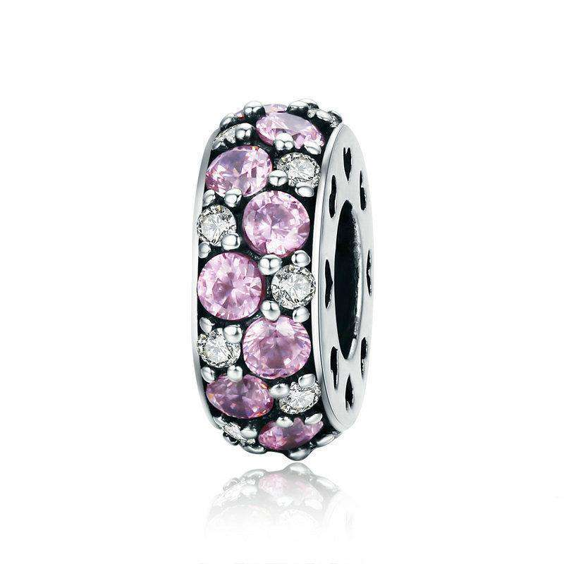 Pandora Compatible 925 sterling silver Classic Pink CZ Spacer From CharmSA Image 1