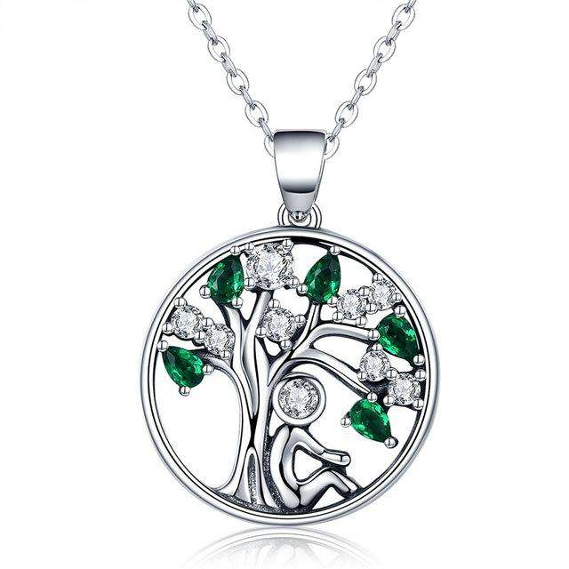 Rely Green Tree of Life Necklace