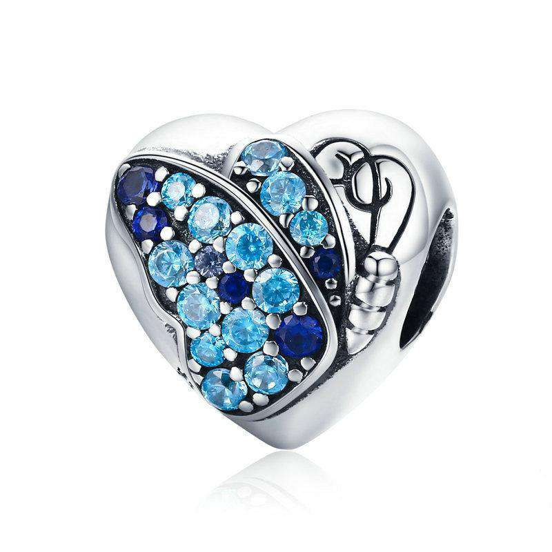 Pandora Compatible 925 sterling silver Butterfly Flower Love Heart Charm From CharmSA Image 1