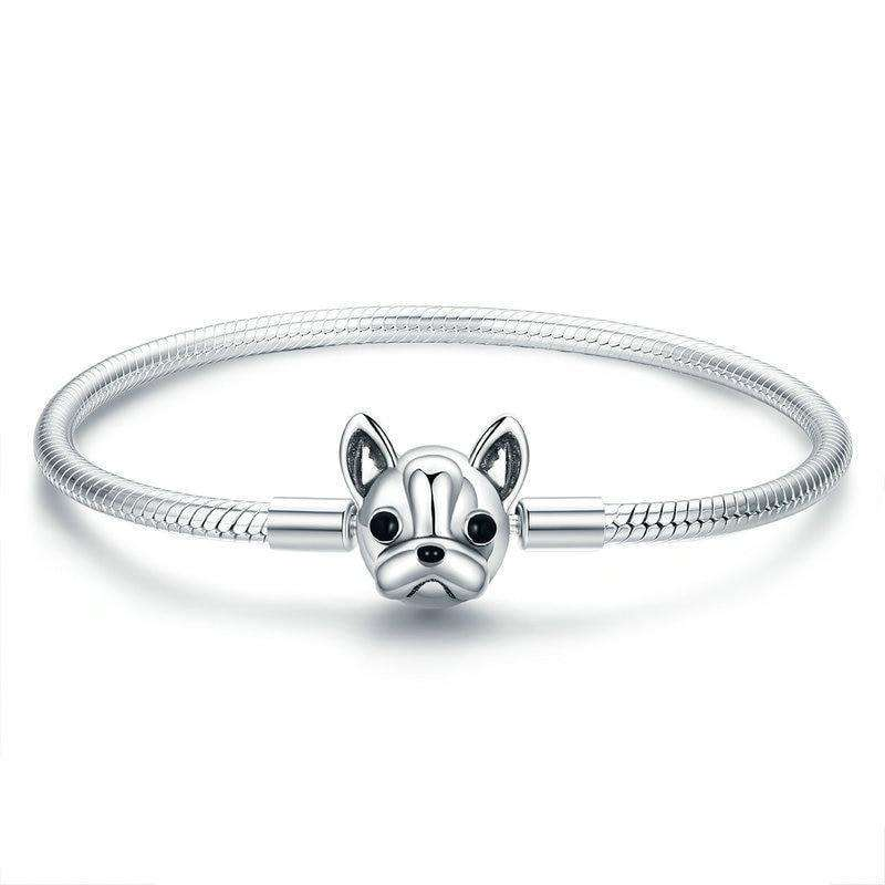 Boston Terrier Snake Chain Bracelet From CharmSA Image 1