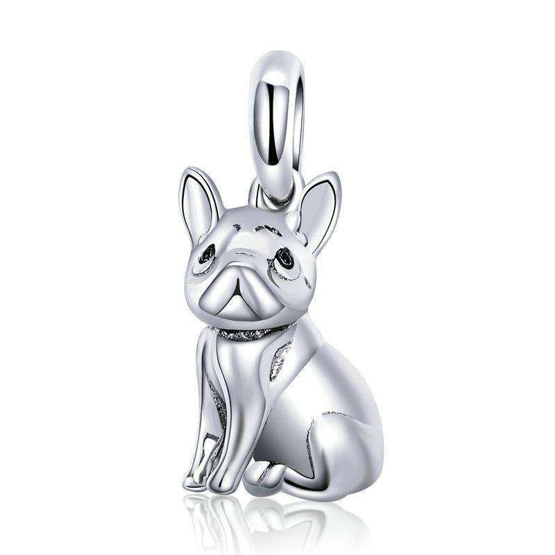 Pandora Compatible 925 sterling silver Trendy French Bulldog Charm From CharmSA Image 1