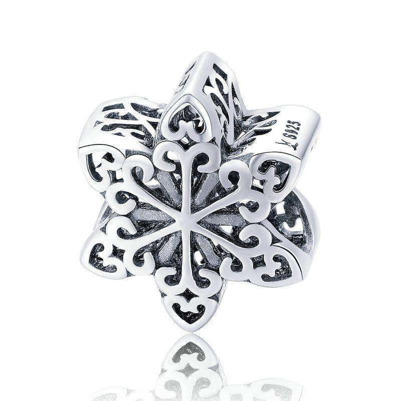 Pandora Compatible 925 sterling silver Elegant Snowflake Openwork Charm From CharmSA Image 1
