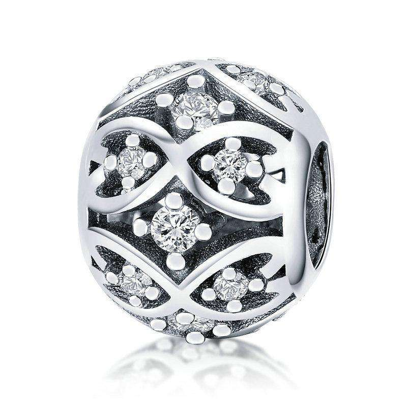 Pandora Compatible 925 sterling silver Dazzling CZ Elegant Charm From CharmSA Image 1